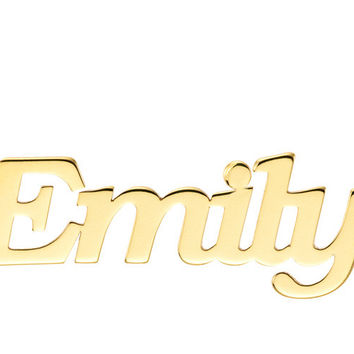 NAME NECKLACE BLOCK FONT - GOLD