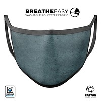 Dark Blue Surface v1 - Made in USA Mouth Cover Unisex Anti-Dust Cotton Blend Reusable & Washable Face Mask with Adjustable Sizing for Adult or Child