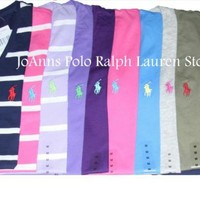 NEW  RALPH LAUREN WOMENS  SHORT SLEEVES SPORT PIMA T-SHIRT SZ: XS S M L XL