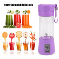 4 Colors 380ml USB Electric Fruit Juicer Handheld Smoothie Maker Blender Rechargeable Mini Portable Juice Water Bottle