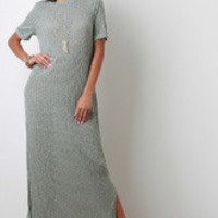 Women's Rib Knit Slit Maxi Dress
