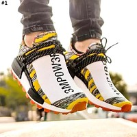 Adidas X Pharrell HU NMD co-branded tide brand men's and women's sports running shoes #1