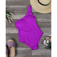 Sunshine Scalloped One Piece in Magenta