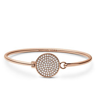 Michael Kors Pave-Crystal Tension Bracelet, Rose Golden