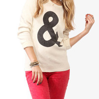 Ampersand Graphic Sweater