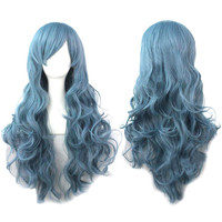 New Fashion Women's Full wigs Long Curly Wavy Hair Wig Cosplay Party Halloween Gift