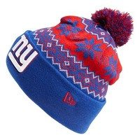 Men's New Era Cap 'Snowburst - NFL New York Giants' Pom Knit Cap