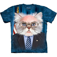 Bernie Sanders For President 2016 T-Shirt Election Feel The Bern Funny Cat Tee