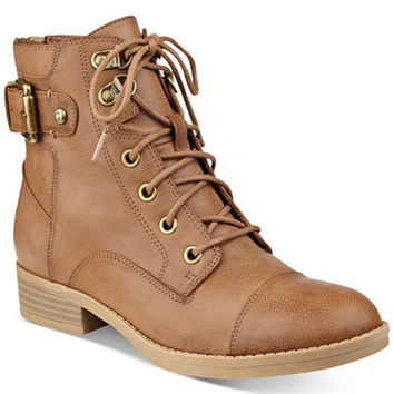 G by GUESS Fella Lace-Up Combat Booties