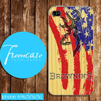 browning deer on wood us case for iphone 4/4s case, iphone 5 case, iphone 5s case, iphone 5c case, galaxy s3, galaxy s4
