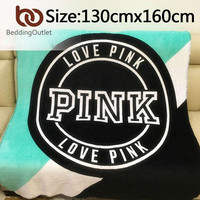 VS Secret Blanket Pink Fleece Blanket Portable Throws on Sofa/Bed/Plane Plaids Qualified Soft Battaniye 130cmx150cm