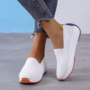 New women's footwear shallow mouth casual sports shoes