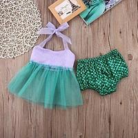 Summer Baby Girls clothes 2pcs Outfits Sets