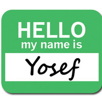 Yosef Hello My Name Is Mouse Pad