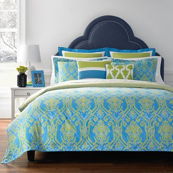 Happy Chic by Jonathan Adler Claire 3-pc. Reversible Comforter Set - King (Blue)
