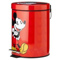Mickey Step Waste Basket - Red
