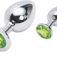 Great Gift Idea: Valentine 'S / Birthday Gift ~ 2 Pcs Steel Fetish Plug Anal Butt Jewelry Large +Small (Mint / Baby Green)