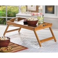 Bamboo Folding Bed Tray
