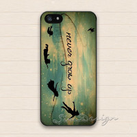 Peter Pan iPhone 5 Case,iPhone 5s Case,iPhone 4 4s Case,Samsung Galaxy S3 S4 Case,never grow up peter pan Hard Rubber Cover Skin Case