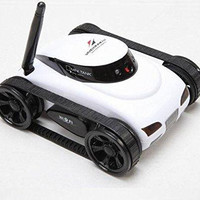 App-Controlled Wi-Fi Spy Tank with Camera (White)