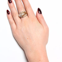 Jeweled Cougar Ring
