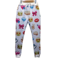 Women/men emoji joggers 3d sweatpants print