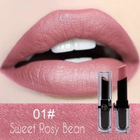 6 colors nude red liquid lipstick moisturizing and long lasting lip stick black and gloden rose container for chapstick