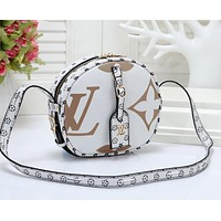LV Louis Vuitton Fashion Women Shopping Leather Satchel Shoulder Bag Crossbody White
