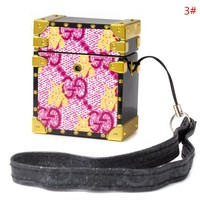 GUCCI New fashion bee letter print couple protective case headphone case shell no headset 3#