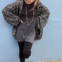 Wild World Black Oversized Cardigan With Pockets