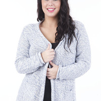 Knitted Cardigan With Front Pockets-Green-UK 10/12 - EU 38/40