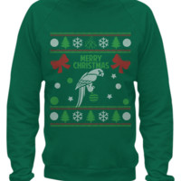 Parrot - Ugly Christmas Sweater Printed  parrot