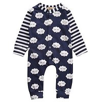 Autumn born Infant Baby Boy Girls Outfits Cotton Romper Cloud Jumpsuit One-pieces