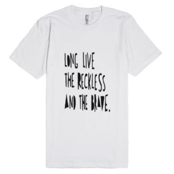 all time low reckless and the brave-Unisex White T-Shirt
