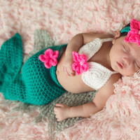 Baby Mermaid Costume - Baby Mermaid Photo Prop - Baby Mermaid Outfit - mermaid costume for babies - Baby Mermaid Tail - little mermaid tail