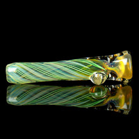 Thick Double Fume Glass Chillum