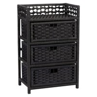 Paper Rope 3 Drawer Chest - Black