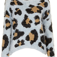 Knitted Fluffy Animal Jumper - Knitwear - Clothing - Topshop USA