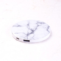 Marble Round Portable Charger/Power Bank