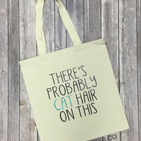 There's Probably Cat Hair On This // Glitter Tote Bag
