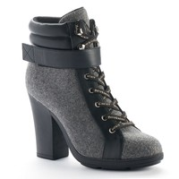 Juicy Couture Women's Lace-up High Heel Ankle Boots (Grey)