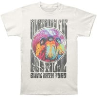 Jimi Hendrix Men's  Monterey Pop Slim Fit T-shirt Off-white