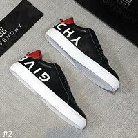 GIVENCHY 2018 autumn new casual sports men's fashion letters white shoes #2