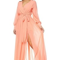 Lexi Chiffon Long Sleeve Maxi Dress
