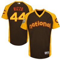Anthony Rizzo Chicago Cubs Majestic 2016 MLB All-Star Game Baseball Batting Practice Jersey - Brown