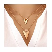 Layered Arrow Necklace - Walmart.com