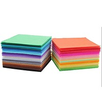 40pcs Non Woven Felt Fabric 1mm Thickness Polyester Cloth Felts DIY Bundle For Sewing Dolls Crafts 15x15cm