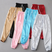 Fashion leisure new satin convergent feet pants pants (6 color)