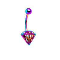Diamonds and Rainbows Belly Ring
