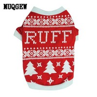 DCCKU7Q Christmas dog clothes clothing Costume Warm mascotas Outer wears winter clothes Sweaters products for animals mascotas